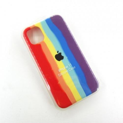 Iphone 11 Чехол Радуга Silicone Case (rainbow)