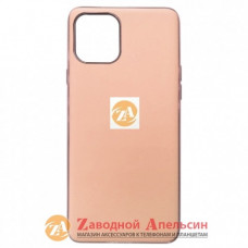 Iphone 11 pro max матовый чехол Electroplate pink