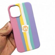 Iphone 12 pro max чехол радуга Silicone Case rainbow