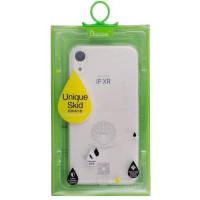 Iphone XR силиконовый чехол Electroplate blue