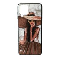 Samsung A12 A125 M12 M125 Чехол Рисунок Pop Art (female)