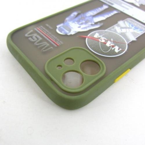 Iphone 11 чехол рисунок NASA хаки khaki