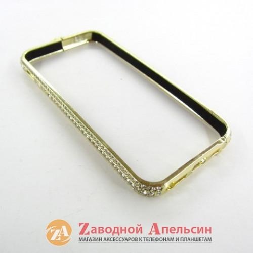 IPhone 5 5s se бампер Luxery diamond gold