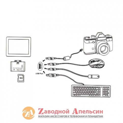 OTG адаптор SD microSD Samsung TAB 30pin