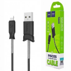 USB кабель Apple iPad lightning 1m Hoco X24 усиленный