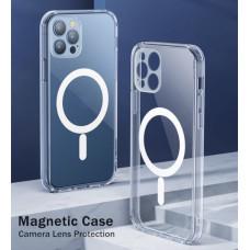 Iphone 12 pro max прозрачный чехол магнит MagSafe