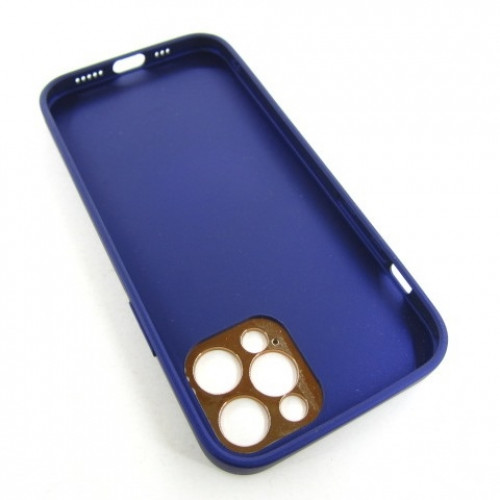 Iphone 12 pro кожанный чехол Epik purple