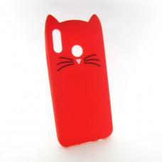 Huawei P Smart plus (INE-LX1) объемный 3D чехол Cats