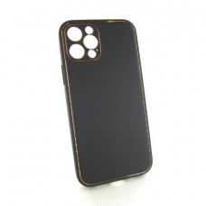 Iphone 12 pro кожанный чехол Epik black