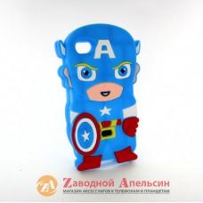 IPhone 4 4S объемный чехол капитан Америка