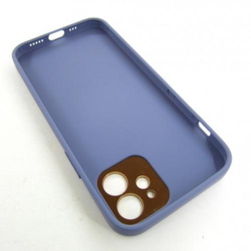 Iphone 12 кожанный чехол Epik lavander