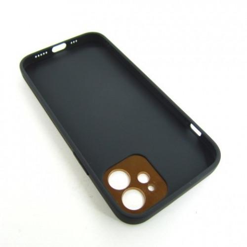 Iphone 12 кожаный чехол Epik black