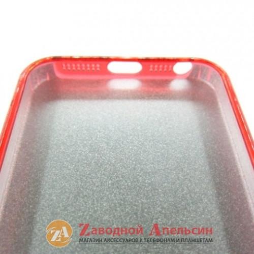 IPhone 5 5s 5se чехол Shining блестки red