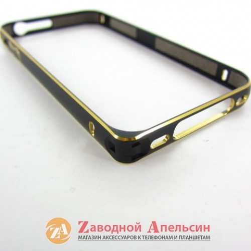 IPhone 4 4S бампер металлический Fashion black