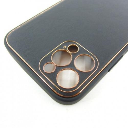 Iphone 12 mini кожаный чехол Epik black