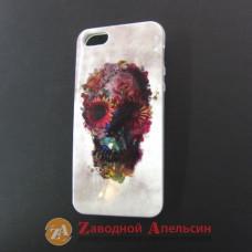 IPhone 5 5S se чехол рисунок череп Scull