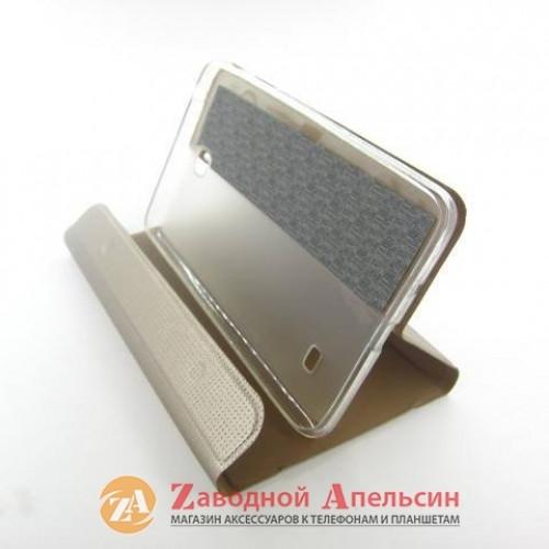 Samsung Tab 4 T230 чехол подставка Book Cover gold