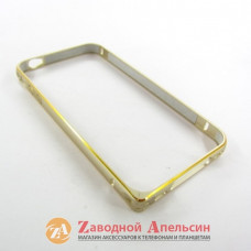 IPhone 4 4S бампер металлический Fashion gold