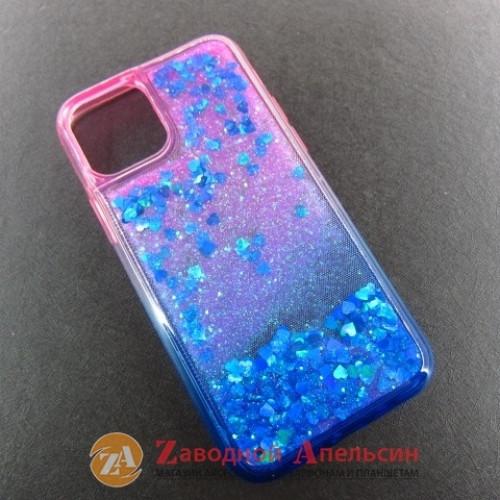 Iphone 11 pro чехол плавающие блестки Аквариум