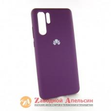 Huawei P30 pro (VOG-L04) чехол микрофибра Silicone Cover grape
