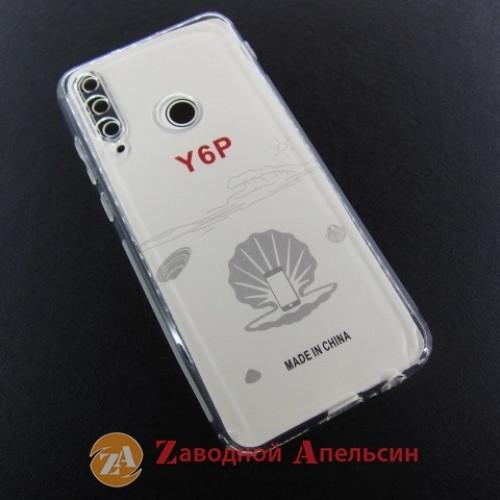 Huawei Y6P прозрачный чехол защита камеры