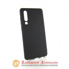 Huawei P30 (ELE-L29) защитный чехол карбон