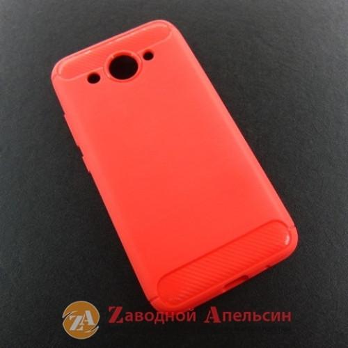 Huawei Y3 2017 CRO-U00 силиконовый чехол красный