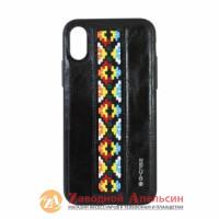 Iphone X XS 10 чехол кожа G-CASE Folk series орнамент