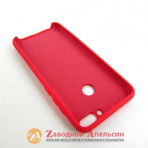 Huawei P Smart (FIG-LX1) силиконовый чехол Colorful красный
