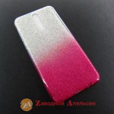 Huawei Mate 10 lite (51091YGH) чехол блестки двухцветный