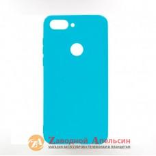 Huawei P Smart plus (INE-LX1) силиконовый чехол Colorful blue