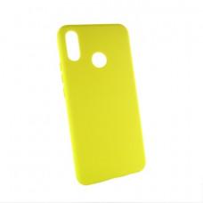Huawei P Smart plus (INE-LX1) силиконовый чехол Colorful желтый