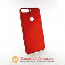 Huawei Y7 2018 honor 7C pro (LDN-L21) чехол soft touch red