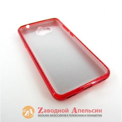Huawei Y5 2017 (MYA-U29) чехол блестки shining red