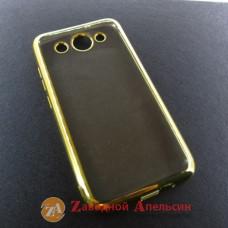 Huawei Y3 2017 CRO-U00 чехол Eleсtroplating gold