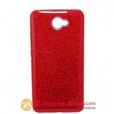 Huawei Y7 2017 чехол блестки shining glitter bling red