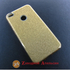 Huawei P8 P9 Lite 2017 PRA-LA1 PRA-LX1 чехол блестки gold