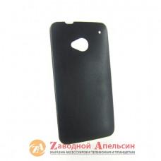 HTC One M7 чехол накладка кожа