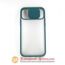 Iphone 11 pro чехол защита камеры Curtain pine green