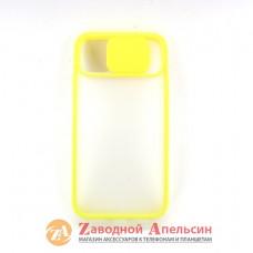 Iphone 11 чехол защита камеры Curtain yellow