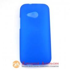 HTC One mini 2 M8 силиконовый чехол Cover blue