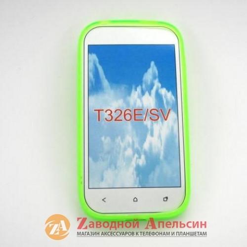 HTC Desire SV T326e чехол Cover салатовый