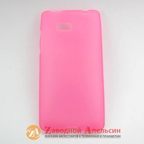 HTC Desire 600 защитный чехол Cover pink