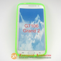 Samsung G7102 Grand 2 чехол накладка салатовый