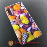 Samsung A7 A750 чехол рисунок Seashells