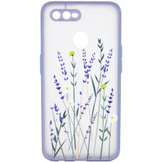 Oppo A12 A5s чехол рисунок лаванда lilac