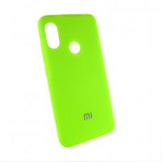 Xiaomi Redmi 6 pro Mi A2 lite чехол салатовый Silicone Cover