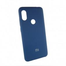 Xiaomi Redmi 6 pro Mi A2 lite чехол синий Silicone Cover navy