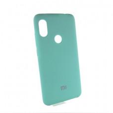 Xiaomi Redmi Note 6 pro чехол мятный Silicone Cover mint