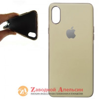 Iphone XS Max матовый чехол Electroplate cocoa